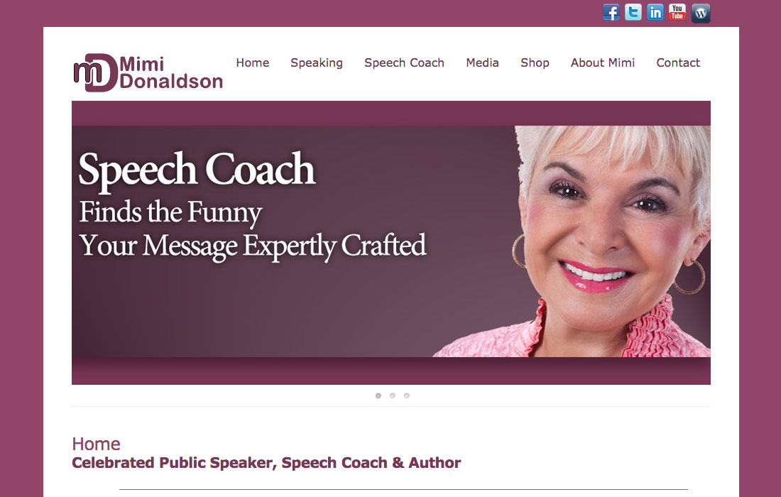 Speech Coach, Mimi Donaldson
