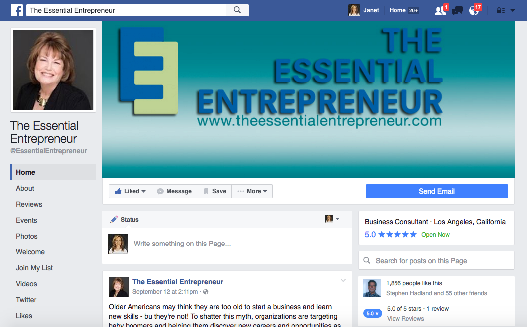 The Essential Entrepreneur | Jagmedia | Venice Beach Website